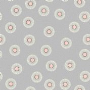 Lewis & Irene - Forme - 6927 - Abstract Floral, Pink on Grey - A410.1 - Cotton Fabric